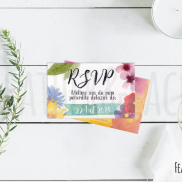 RSVP Gorgeous Aquarelle
